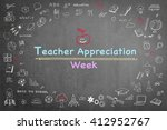 national teacher appreciation... | Shutterstock . vector #412952767
