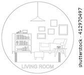 living room interior. raster... | Shutterstock . vector #412970497