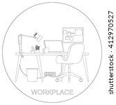 workplace interior. raster... | Shutterstock . vector #412970527