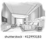 interior sketches into digital... | Shutterstock . vector #412993183