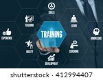 training technology... | Shutterstock . vector #412994407