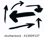 set of many different arrows on ... | Shutterstock . vector #413009137