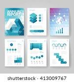 business brochure design... | Shutterstock .eps vector #413009767