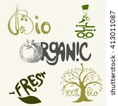 vector set with different bio... | Shutterstock .eps vector #413011087