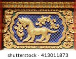 traditional thai style art at... | Shutterstock . vector #413011873