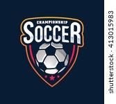 soccer logos  american logo... | Shutterstock .eps vector #413015983