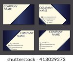 vector vintage business card... | Shutterstock .eps vector #413029273