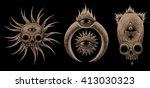 mystic symbols set. graphic... | Shutterstock . vector #413030323