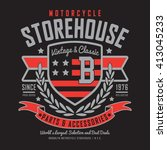 motorcycle store house... | Shutterstock .eps vector #413045233