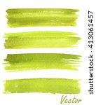 Set Of Watercolor Stripes....
