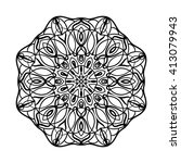 mandala. ethnic decorative... | Shutterstock .eps vector #413079943