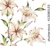 Seamless Pattern With Lilies....