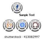the illustration   set of logos ... | Shutterstock .eps vector #413082997