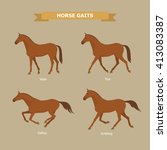 Vector Illustration Of Horse...