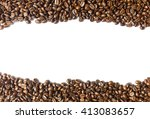 coffee beans isolated on white... | Shutterstock . vector #413083657