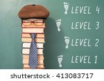 funny level education concept... | Shutterstock . vector #413083717