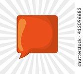 communication design. bubble... | Shutterstock .eps vector #413096683