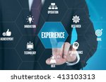 experience technology... | Shutterstock . vector #413103313