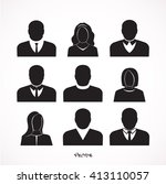 simple avatar icons of various... | Shutterstock .eps vector #413110057