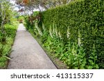 beautiful english style garden... | Shutterstock . vector #413115337