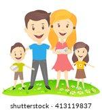 image cartoon of a happy... | Shutterstock . vector #413119837