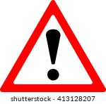 warning sign | Shutterstock .eps vector #413128207