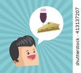 sandwich design. healthy food... | Shutterstock .eps vector #413137207