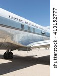 Small photo of Tucson, Arizona, USA - April 25, 2016: presidential aircraft Airforce One Douglas VC-118A LiftMaster used by presidents Kennedy & Johnson 1961 - 1965 in the Pima Air & Space Museum.