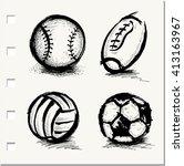 vector sketch illustration ... | Shutterstock .eps vector #413163967