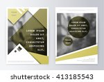 business brochure. brochure... | Shutterstock .eps vector #413185543