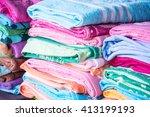 Multicolored Fabric In Outdoor...