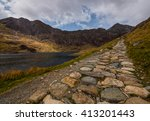 Pathway To Snowdon Mountain In...