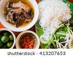 bun cha is a northern... | Shutterstock . vector #413207653