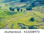 rice terraces field view point... | Shutterstock . vector #413208973