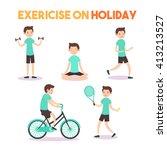 infographics exercise on... | Shutterstock .eps vector #413213527