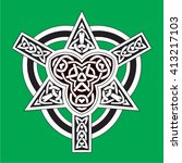 celtic design element | Shutterstock .eps vector #413217103