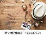 concept   summer vacation at sea | Shutterstock . vector #413237107