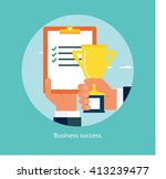 success in business concept | Shutterstock .eps vector #413239477