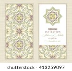 wedding invitation cards in an... | Shutterstock .eps vector #413259097