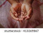 Open Children Hand Begging For...