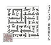 vector labyrinth | Shutterstock .eps vector #413274127
