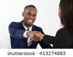 successful african american... | Shutterstock . vector #413274883