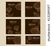 design templates business cards ... | Shutterstock .eps vector #413289397