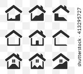 set of house vector icons. | Shutterstock .eps vector #413295727
