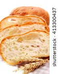 fresh baguette bread and ripe... | Shutterstock . vector #413300437