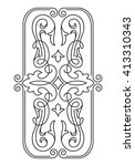 decorative element  stencil for ... | Shutterstock .eps vector #413310343