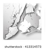 high resolution map of new york ... | Shutterstock .eps vector #413314573