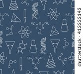 science icon seamless pattern... | Shutterstock .eps vector #413333143