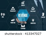revenue technology... | Shutterstock . vector #413347027