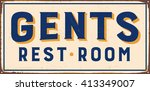 vintage metal sign   gents rest ... | Shutterstock .eps vector #413349007